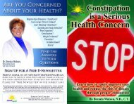 Constipation Brochure - Romwell.com