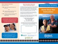 Brochure - Home Stool Test Instructions - Screening for Life