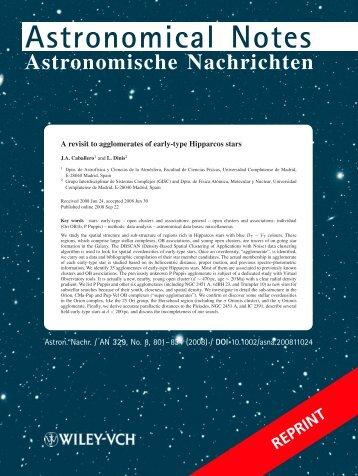 Astronomical Notes - Universidad Complutense de Madrid