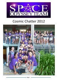 Latest version of the Cosmic Chatter - Tara Anglican School for Girls