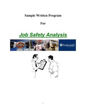 Job Hazard Analysis Safety Packet