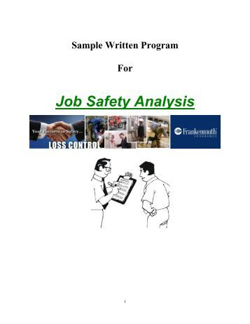 What information do you need to write a job safety analysis?