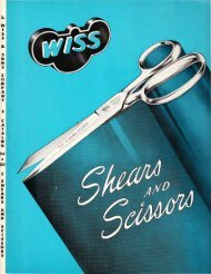 Wiss: Shears And Scissors - J. Wiss & Sons Co.