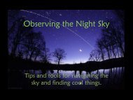 Observing the Night Sky