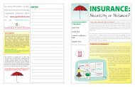 Insurance: Necessity or Nuisance? - College of Family and ...