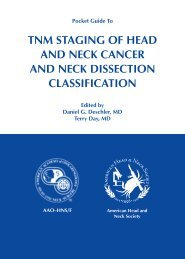 TNM STAGING OF HEAD AND NECK CANCER AND NECK ...