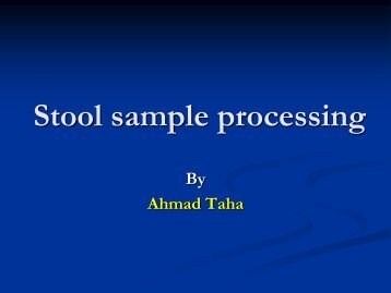 Stool sample processing