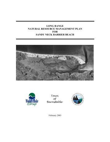 sandy neck management plan - Town of Barnstable