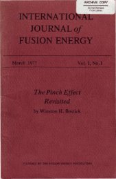 INTERNATIONAL JOURNAL of FUSION ENERGY