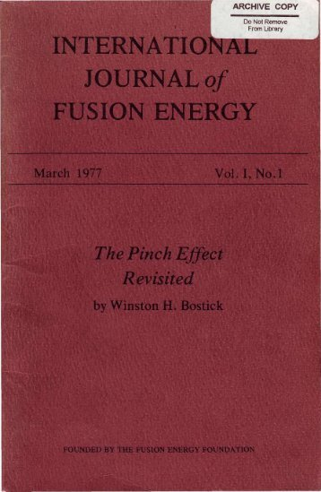INTERNATIONAL JOURNAL of FUSION ENERGY
