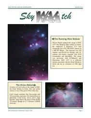 The Running Man Nebula The Orion Nebula - Westchester Amateur ...