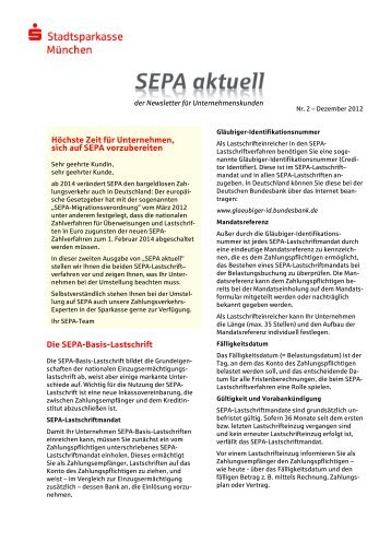 201212_SEPA-Newsletter-FK_Version SSKM - Stadtsparkasse ...