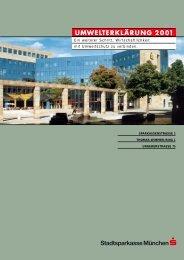 umwelterklärung 2001 - Stadtsparkasse München
