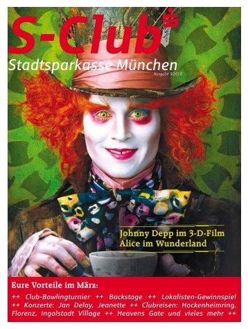 Johnny Depp im 3-D-Film Alice im Wunderland - Stadtsparkasse ...