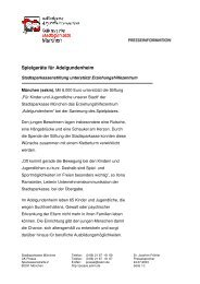 Spielgeräte für Adelgundenheim - Stadtsparkasse München