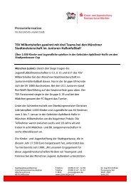TSV Milbertshofen gewinnt mit drei Teams bei den Münchner ...