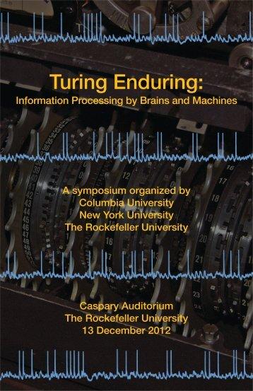 Turing Enduring - Center for Neural Science - New York University
