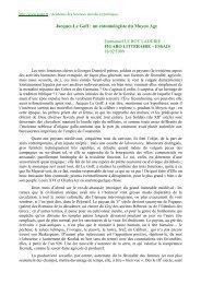 Jacques Le Goff : un entomologiste du Moyen Age - Académie des ...