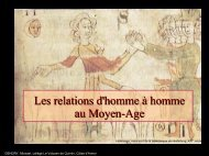 Les relations d'homme à homme au Moyen-Age - Clio Collège
