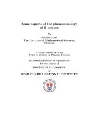 Some aspects of the phenomenology of B mesons - Homi Bhabha ...