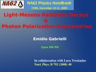Light-mesons radiative decays & photon ... - Emidio Gabrielli