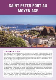SAINT PETER PORT AU MOYEN AGE - L'histoire de Guernesey
