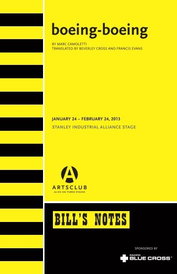 ACTC BB Bills Notes.indd - Arts Club Theatre Company