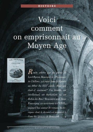 La prison au Moyen-Âge: Bonivard (pdf, 6 - Patrimoine Vaudois