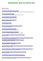 COMPILATION RESSOURCES MOYEN AGE - ParticiPassions