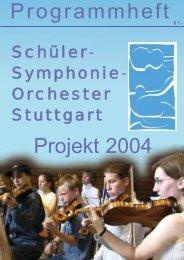 Programmheft Projekt 2004