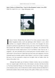 Michael Maar Speak, Nabokov