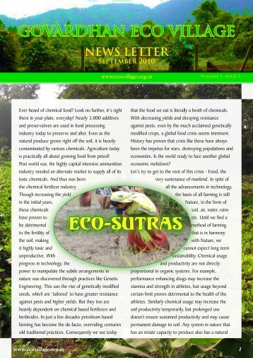 Govardhan Eco Village Newsletter - ebooks - ISKCON desire tree