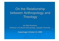 On the Relationship between Anthropology and Theology