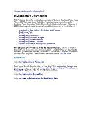 Investigative Journalism - Medienhilfe