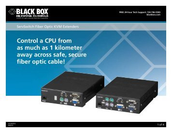 Control a CPU from as much as 1 kilometer away across ... - Black Box