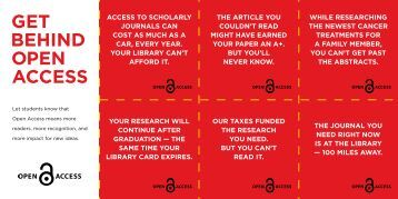 access to scHoLaRLY JoURNaLs caN cost as MUcH as a caR ...