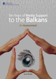 Ten Years of Media Support to the Balkans: An ... - Medienhilfe
