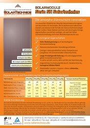 Datenblatt zur Serie SN Solartechnics Solarmodule ... - SolarServer
