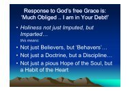 Response to God's free Grace is: 'Much Obliged .. I am in Your Debt ...