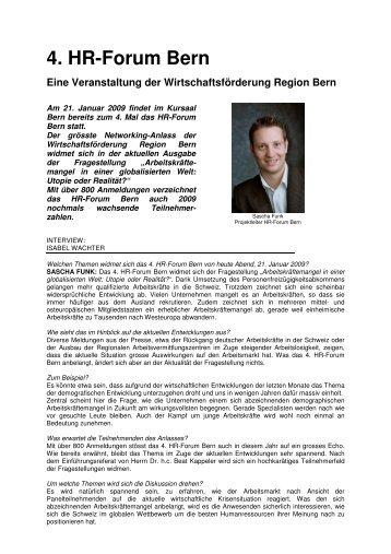 4. HR-Forum Bern Eine Veranstaltung der ... - Meichle + Partner AG