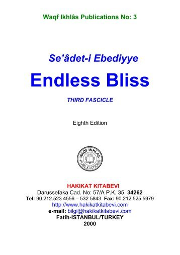 3-Endless Bliss Third Fascicle - Hakikat Kitabevi