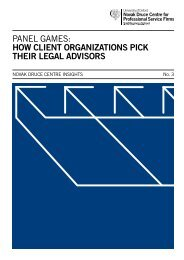 panel games: how client organizations pick their legal advisors