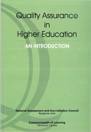 Quality Assurance in Higher Education: An Introduction