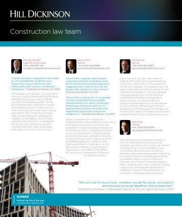 Construction law team - Hill Dickinson