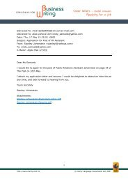Cover letters - model answers Applying for a job - Clarity English ...