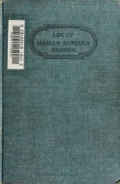 Marcus Aurelius; a biography told as much as may be by letters ...