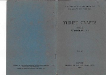 THRIFT CRAFTS - National Federation of Women's Institutes