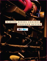 MAKING DIESEL ENGINES PERFORM BETTER - UltraBurn
