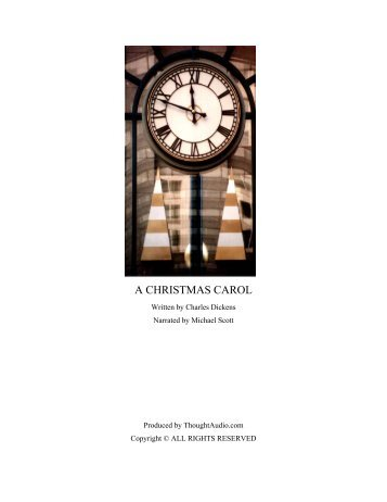 A CHRISTMAS CAROL - ThoughtAudio.com