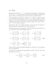 4.7 SU(3) The group SU(3) has 3 2 - 1 = 8 generators ... - GSI - Theory